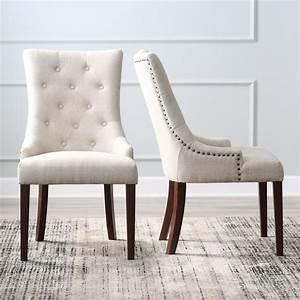 Belham Living Thomas Tufted Tweed Dining Chairs
