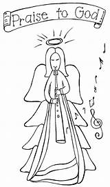 Angel Coloring Christmas Pages Angels Bookmark Read Sheets Pencils11 Url Title Adults Rocks Popular sketch template