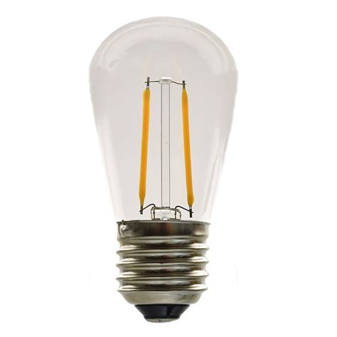 s14 two filament warm white led light bulb 2 watts