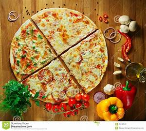 Fast Food, Delicious Hot Italian Pizza With Vegetables
