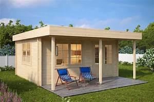 Gartenhaus Mit Vordach : holz gartenhaus mit vordach ian c 18m 58mm 4x5 hansagarten24 ~ Udekor.club Haus und Dekorationen