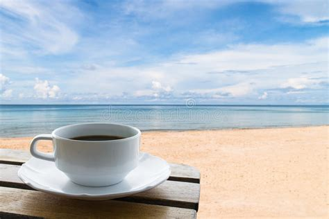 Coffee Cup On The Beach Stock Image. Image Of Backgrounds Best Coffee Grinder Espresso Machine Grinders On The Market Today Bodum Aeropress Advantages Walmart Makers Sale Luwak White Viral Where To Buy Brewer
