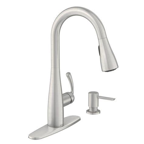 moen kitchen faucets moen essie single handle pull sprayer kitchen faucet