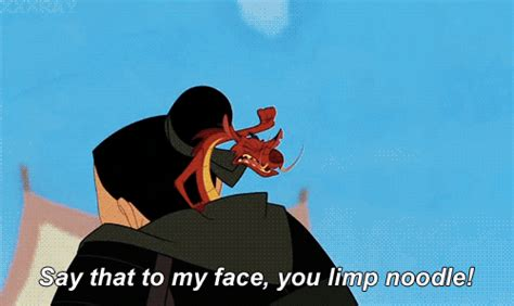 Say That To My Face Meme - fa mulan gif tumblr