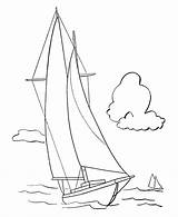 Coloring Sailboat Pages Yacht Boats Sail Template Popular Sheets Sketch Templates sketch template