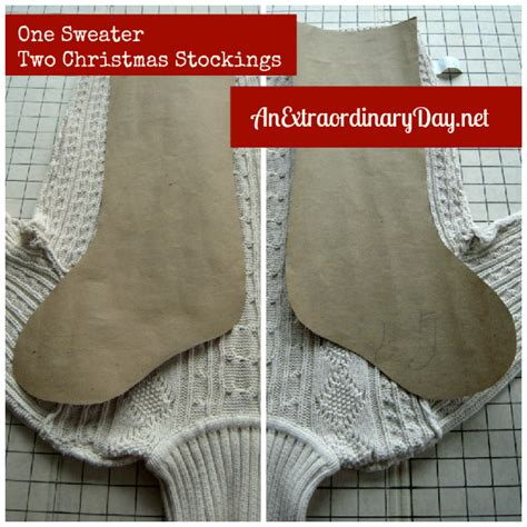 sweater  christmas stocking   easy steps