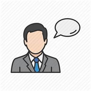 Man speaking, speech bubble, talk, talking, words icon