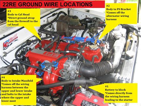 03 Toyotum 4runner Efi Wiring by 22re Ground Wire Locations The Guide Yotatech Forums