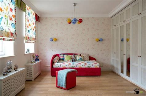 beautiful children s rooms beautiful childrens room with red bed and stool also big wardrobe with mirrors and colorful