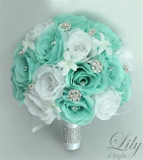 piece package wedding bridal bouquet silk flowers