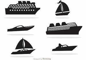 Ship And Boat Black Icons Vector - Download Free Vector ...