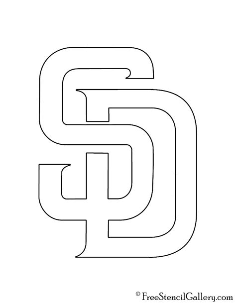 MLB - San Diego Padres Logo Stencil   Free Stencil Gallery