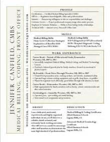 coding resume templates billing coding resume sle coding billing career