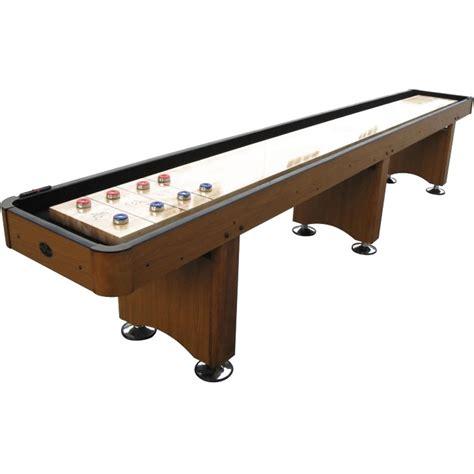 playcraft woodbridge  shuffleboard table honey oak