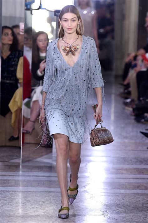 GIGI HADID at Bottega Veneta Fashion Show at Milan Fashion ...
