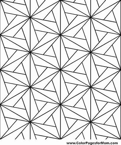 Coloring Geometric Pages Shape Shapes Diamond Patterns