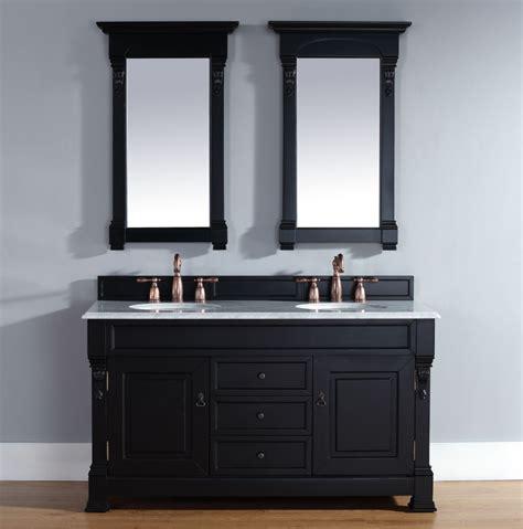 double sink bathroom vanity  black james martin