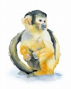 animal watercolour paintings ~ easy arts and crafts ideas