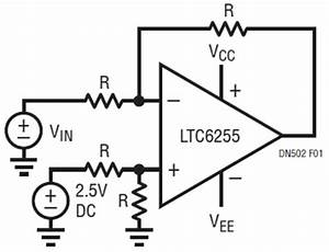 level shifting a 25v signal to 0 5v With opamp levelshifting