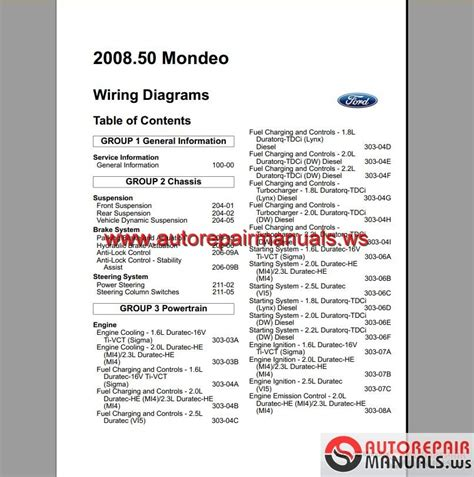 ford mondeo   eu wiring system diagram auto