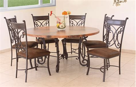 rustic copper table with metal base copper dining table