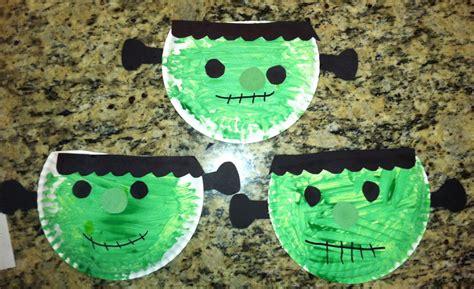 Paper Plate Halloween Preschool Craft Frankenstein Kids