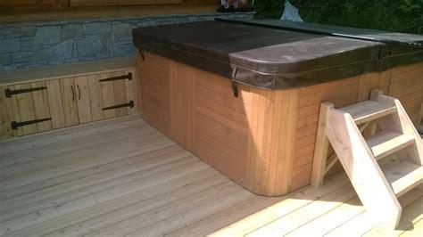 coffre rangement chambre nbc bois aménagement extérieur autour d un spa