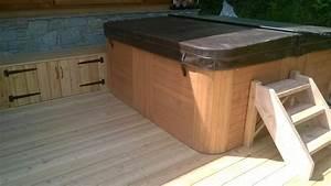 Spa Extérieur Bois : nbc bois am nagement ext rieur autour d un spa ~ Premium-room.com Idées de Décoration