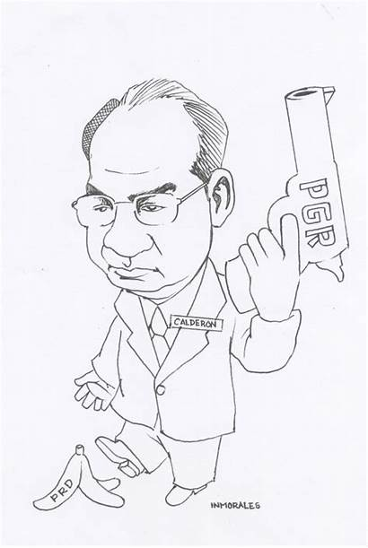 Felipe Calderon Hinojosa Caricatura Relaciones Exteriores Cel