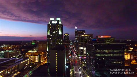 raleigh downtown 4k aerial