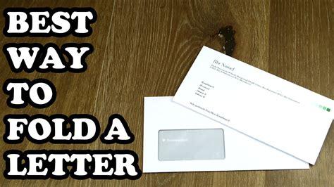fold  letter   window envelope  letter