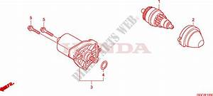 Starting Motor For Honda Scr 110 2010   Honda Motorcycles  U0026 Atvs Genuine Spare Parts Catalog