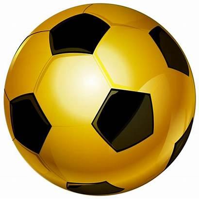 Soccer Ball Clip Football Gold Transparent Clipart