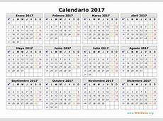 Calendario 2017 Calendario de España del 2017