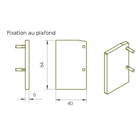 porte coulissante fixation plafond embout pour rail expert 40 80 fixation plafond rob bricozor
