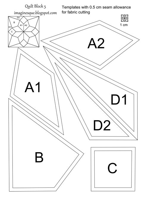 imaginesque quilt block  pattern  templates