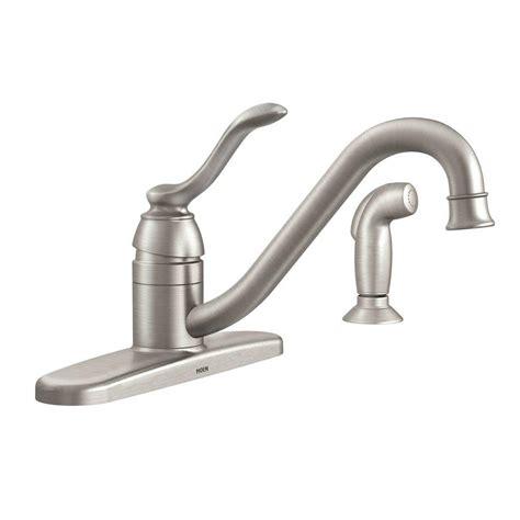 home depot moen kitchen faucets moen banbury single handle standard kitchen faucet with
