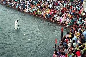 Holy water, Holy river. The Ganges. The Goddess is not ...