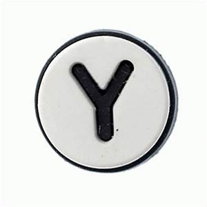 Jibbitz alphabet letter y jibbitz from jelly egg uk for Croc jibbitz letters