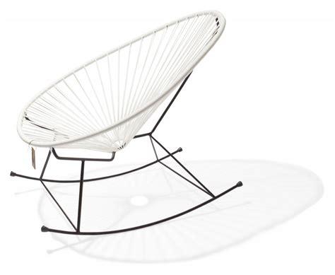 le fauteuil 224 bascule acapulco blanc le fauteuil