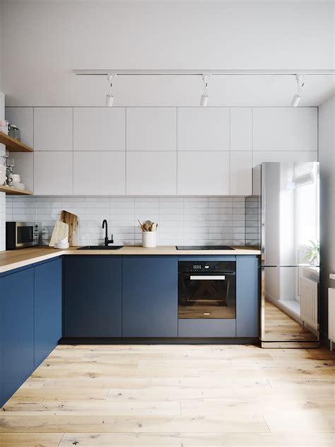 Ikea Küche Kühlschrank by Gł 243 Wna Inspiracja Do Kuchni Granatowy D 243 ł
