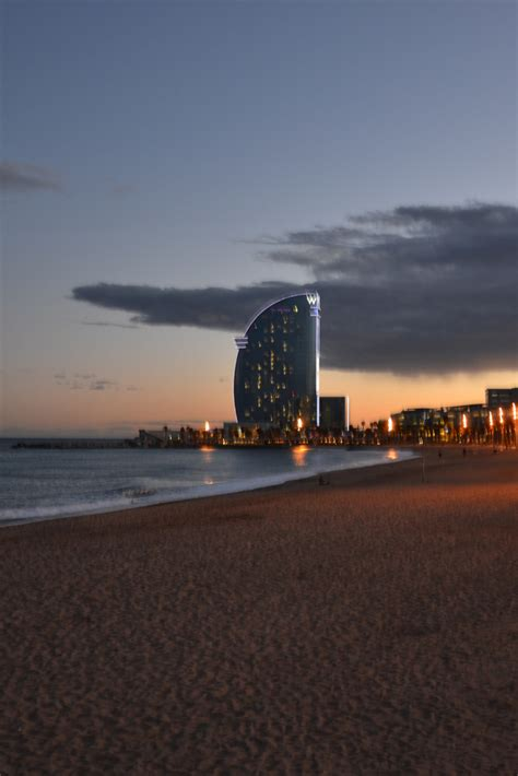 Sunset at the Barceloneta, Barcelona. Amazing to have a ...