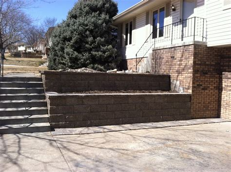 retaining wall styles retaining walls omaha landscaping