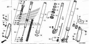 Honda Motorcycle 2005 Oem Parts Diagram For Front Fork