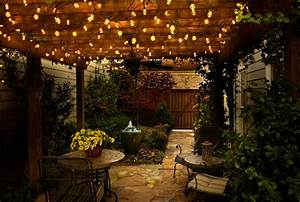 Outdoor cafe lighting strings house style pictures