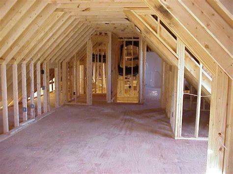framed  garage living space   house