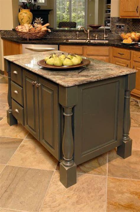 paint kitchen island 5 ideas update oak cabinets without a drop of paint