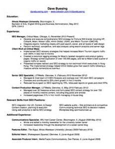 Seo Resume by Seo Manager Resume Images
