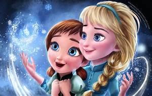 Frozen Elsa & Anna Digital Fan Art Wallpapers