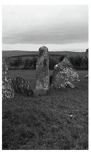 Beltany Standing Stones 2 bw Photograph by Eddie Barron